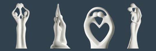 Gilde Skulpturen - Romantik Serie