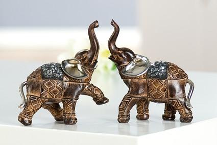 """Deko Afrika Elefanten Figuren """"Mosaik"""", 2-teiliges Set ..."""