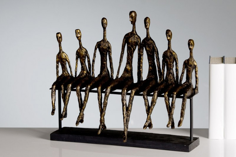 "Casablanca Skulptur ""Community"", 40 x 35 cm, bronze"