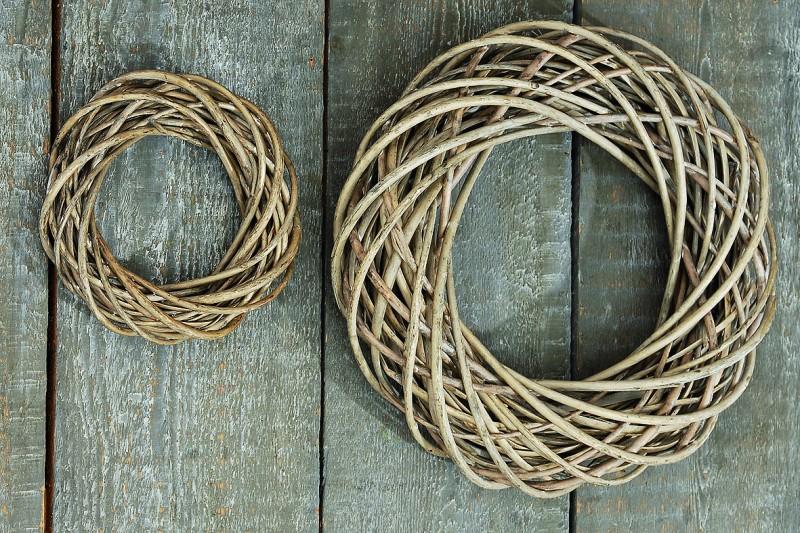 deko weiden kranz set | kränze | weidenkränze, 2-teiliges set, 40, Garten ideen