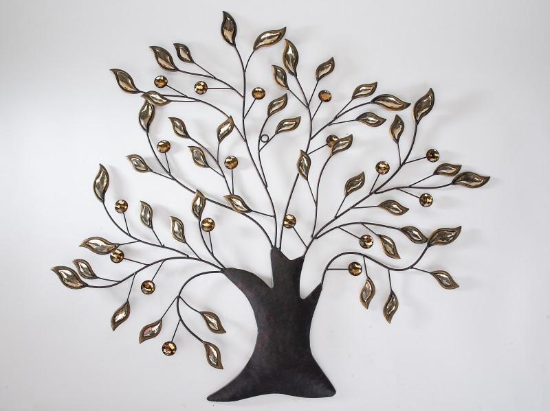 Deko Wand Baum  Wandbaum  Wanddekoration, 74 x 81 cm, naturfarben ...