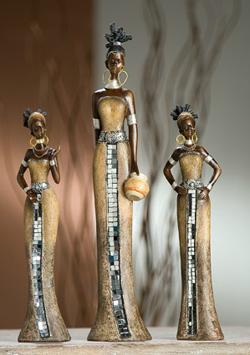 afrikanische figuren und statuen. Black Bedroom Furniture Sets. Home Design Ideas
