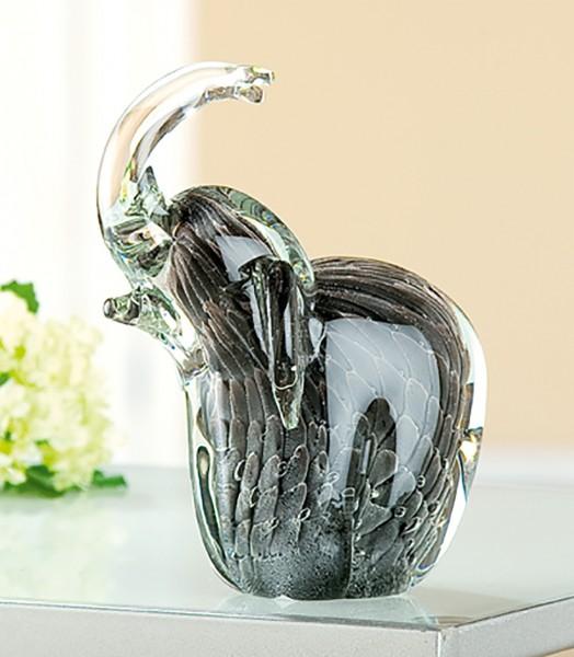 Deko Elefant, 15 cm, grau