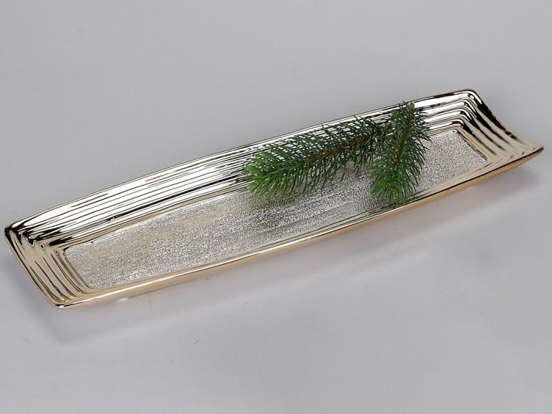 Deko Schale, 40 cm, champagner-gold